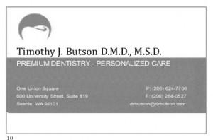 Timothy J Butson DMD, MSD -- Premium Dentistry