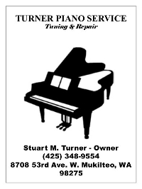 Turner Piano Service -- Tuning & Repair